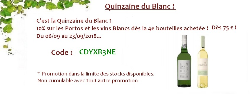 Quinzaine du Blanc !